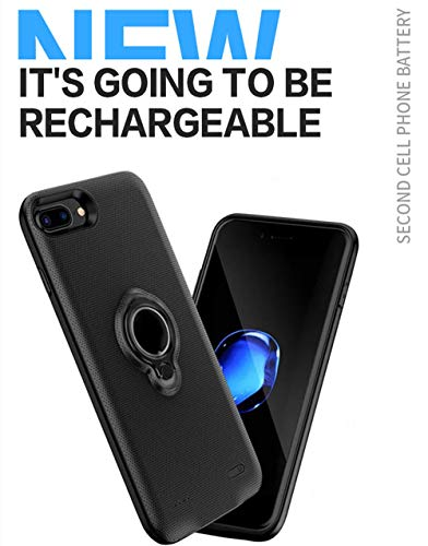 MYGIRLE Batterie-Kasten - Tragbare Ladetasche nachladbare ausgedehnte Batterie-Pack mit Auto-Halter Ständer für Apple iPhone,4.7''ip6/6s/7[5000mah]