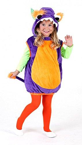Monsterweste lila-orange für Kinder, Verkleidung Monster Kostüm, (Kostüme Kinder Monster Niedliche)