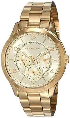 Michael Kors - Reloj de Pulsera para Mujer, cronógrafo, Tono Dorado, Acero Inoxidable