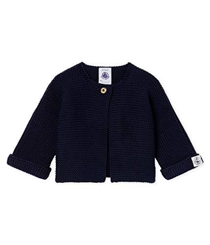 Petit Bateau Baby-Jungen Cardigan_4966301 Strickjacke, Blau (Smoking 01), 68 (Herstellergröße: 6M/67cm)