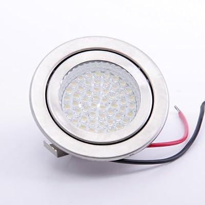 sweet led® 52 LED Einbaustrahler, (Rahmen-)Farbe weiss, G4, 230V, hohe Lichtstärke, warmweiss, Nichtrostender Stahl von Sweet Led - Lampenhans.de
