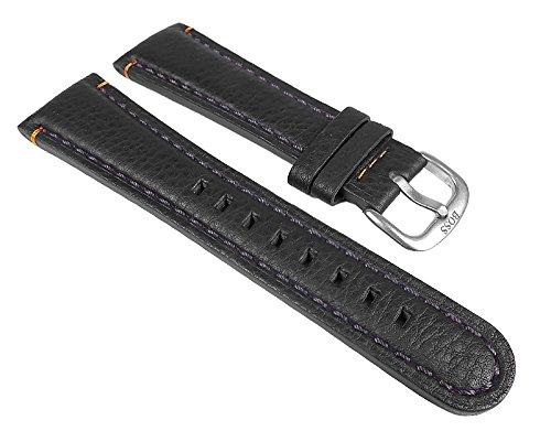 Hugo Boss Uhrenarmband Leder Dunkelbraun 24mm für Modell 1512145 1512141