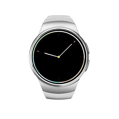 Smart Watch Whatsapp FäHig Android Damen Lesen IOS Wasserdicht Smart Watch Uhr Kompatibel Mit IOS / Android 4.3+ Anti-Verlorene Und Mit Apfel Stimme Für Die Einfache Berufung Ausgestattet. Handy-Uhr Smartwatch Mit Kamera Bluetooth 4.0 &