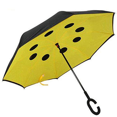 BUKUANG Antivento Doppio Strato D'inversione Dell'ombrello Maniglia Creativa Invertito Viaggio Con L'ombrello A Forma Di C Sole O Pioggia Ombrelli,#4