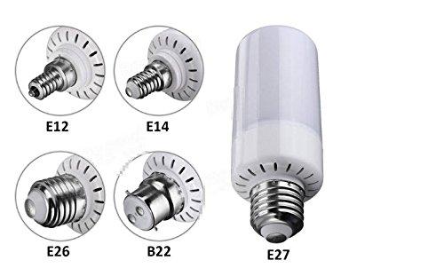 MASUNN 5W E12 E14 E27 E26 B22 3 Modos LED Llama Fuego