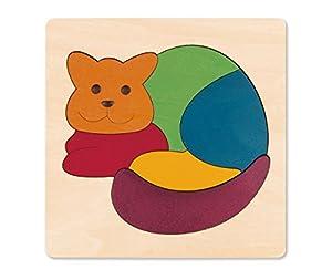 Hape Puzzle encajable Infantil arcoíris Gato Barrutoys E6500