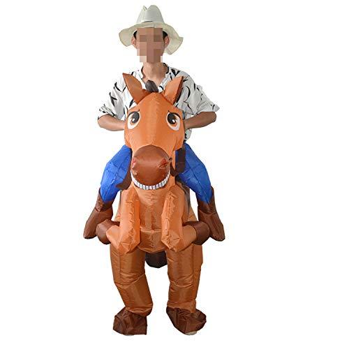 LOVEPET Pferd Ritter Stil Aufblasbare Kostüm Maskerade