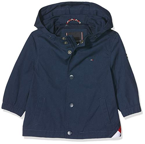 Tommy Hilfiger Hooded Coach Jacket Abrigo, Azul Black Iris 002, 74 para Bebés