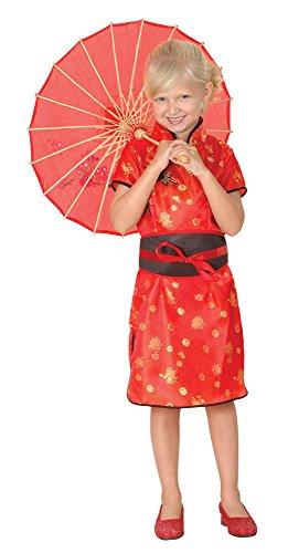 Chinesisches Mädchen - Kinder-Kostüm - Medium - 122 bis (Kindes Chinesischen Kostüm)