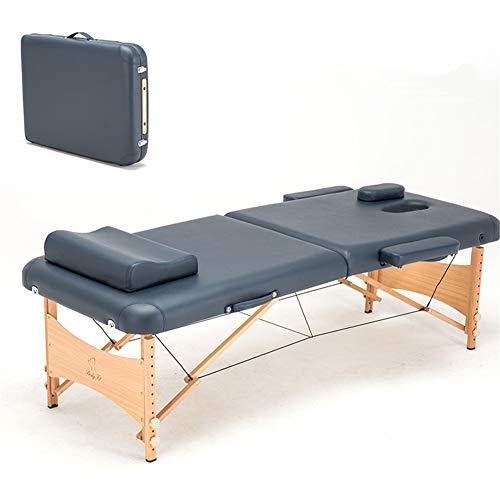 XKRSBS Lettino da Massaggio Massaggio e Relax Lettino da Massaggio per Il Corpo Portatile Lettino da Massaggio da Tavolo Spa Tattoo Pieghevole per Salone Letto da Massaggio in Legno
