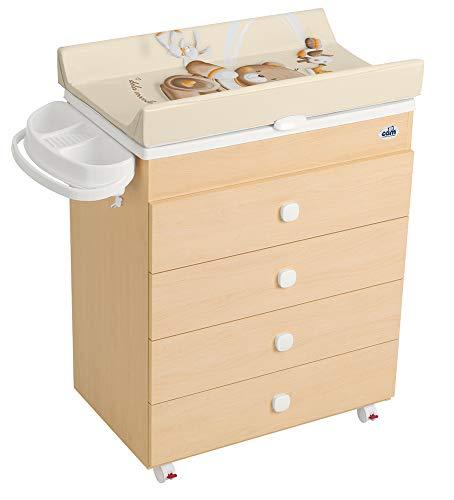 Cam il mondo del bambino c916006 cassettiera in legno, orso re /240