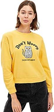 DeFacto Baskılı Sweatshirt - disable Sweatshirt Kadın