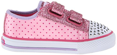 Skechers Shuffles Pretty Blossoms, Low-Top Sneaker bambina Rosa (PKHP)