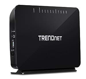 TRENDnet TEW-816DRM Routeur modem VDSL/ADSL2+ Wi-Fi 750 Mbps Noir