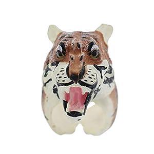 YSoutstripdu Süßer 3D-Cartoon-Tierring für Kinder, Panda-Schweine-Tiger-Design