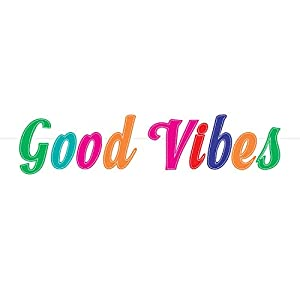 "Amscan International Amscan 120493 - Cartel decorativo, diseño con texto""Good Vibes"""