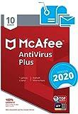 McAfee AntiVirus Plus 2020   10 Geräte   1 Jahr   PC/Mac/Smartphone/Tablet   Aktivierungscode per Post