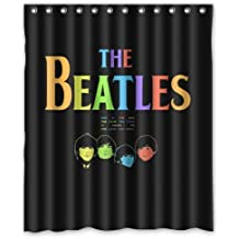 Beatles Timeline Covers Shower Curtain 60