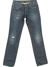 """GAS """"MADE IN ITALY"""" homme jeans droit used-look (bleu foncé/navy)"""