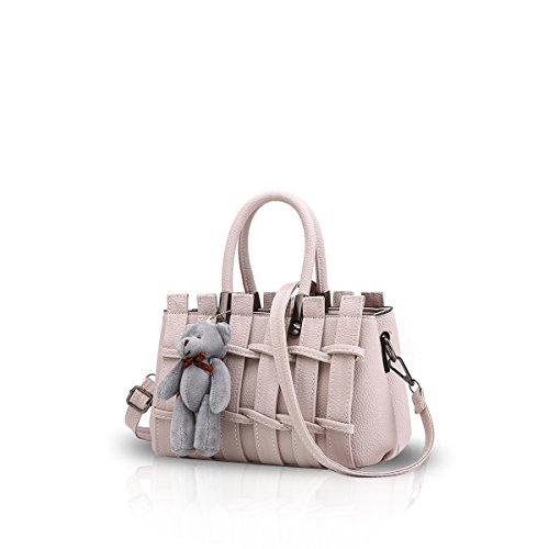 New Girl / femminile dolce Fashion Handbag Messenger Bag di Crossbody della spalla della borsa del Tote Bianco crema Nicole & Doris