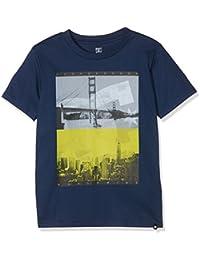 DC Concave Short Sleeve, Camiseta de Manga Corta Para Niños, Azul, Large