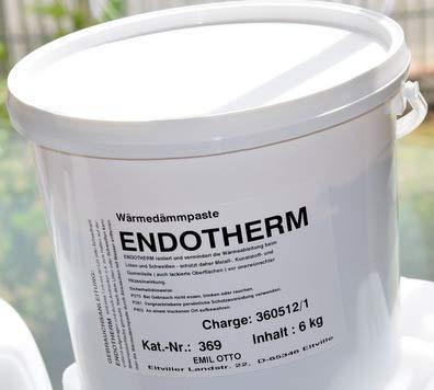 Preisvergleich Produktbild Wärmedämmpaste ENDOTHERM,  Eimer mit 6 kg Inhalt (ENDOTHERM,  die Wärmedämmpaste Material- / Bauteilschutz bei Lötarbeiten und Schweißarbeiten)