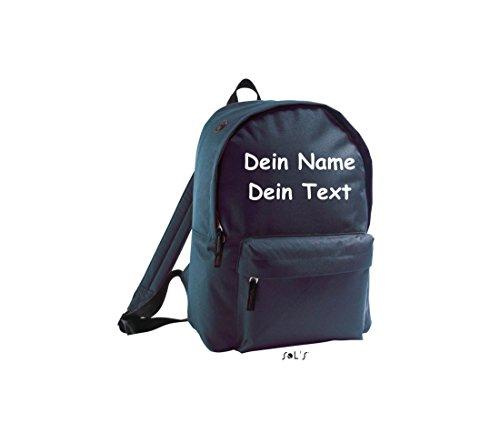 Shirtstown Unisex Rucksack individuell mit deinem Wunschtext versehen navy
