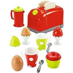 Jouets Ecoiffier - 1231 - Coffret toaster + petit déjeunerpour enfants - 17 pièces - Dès 18 mois - Fabriqué en France