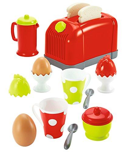 Ecoiffier 1231 Toaster mit Zubehör, Rot