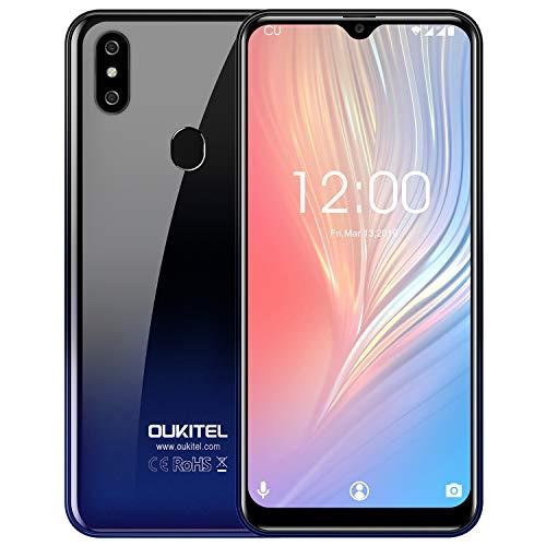 OUKITEL C15 PRO + 4G LTE Handy ohne Vertrag,6,1 Zoll Wassertropfen Bildschirm,Android 9.0, 3GB 32GB MT6761 3200mAh 5G WiFi Smartphone-Gradient