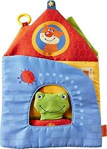 HABA 302859-Plástico Libro sueño stadt2| aufk lappbares Bilderbuch de plástico con 10páginas, Baby Libro con Rana de Dedos muñeca, a Partir de 6Meses