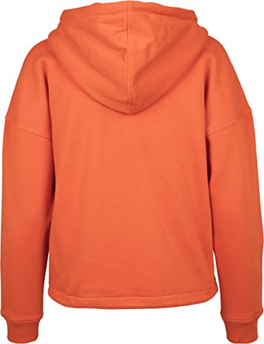 Urban Classics TB1726 Ladies Kimono Zip Hoodie - Sweatjacke für Damen mit Tunnelzug an Kapuze und Saum, Kapuzentjacke einfarbig Orange (Rust Orange 1150)