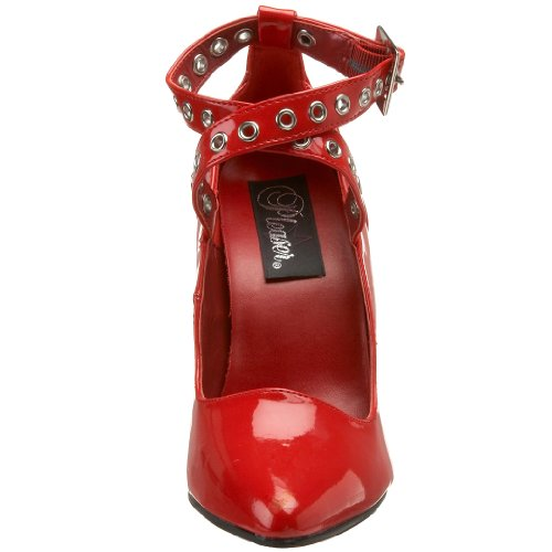 Pleaser Pumps Seduce-443 Schwarz Pat Red pat