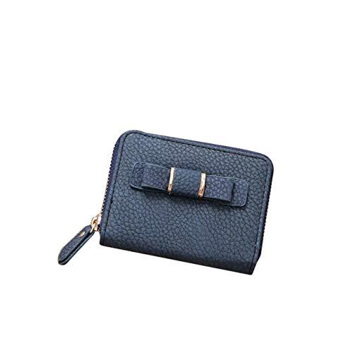 ZALING Mini Frauen Geldbörse Großhandel Fliege Schlüsseltasche Student Brieftasche Geldbörse Dunkelblau (Großhandel Brieftaschen)