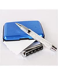 Crystal Stone Filled Pen With Card Holder - Giftacrossindia
