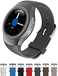 Dokpav® Banda Pulsera Correa de Reloj Inteligente Smartwatch Silicona Deportiva para Samsung Gear S2 - gris