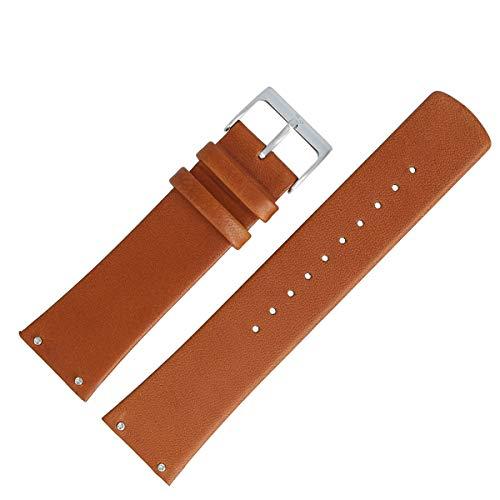 Skagen Uhrenarmband 22mm Leder Braun verschraubter Anstoß - SKW6082