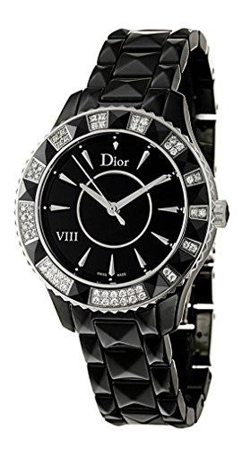 Christian Dior Dior VIII Black Ceramic & Steel Diamond Womens Luxury Watch Quartz CD1231E1C001