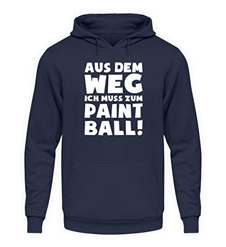 shirt-o-magic Paintball Softair: Muss zum Paintball! - Unisex Kapuzenpullover Hoodie -L-Oxford Navy