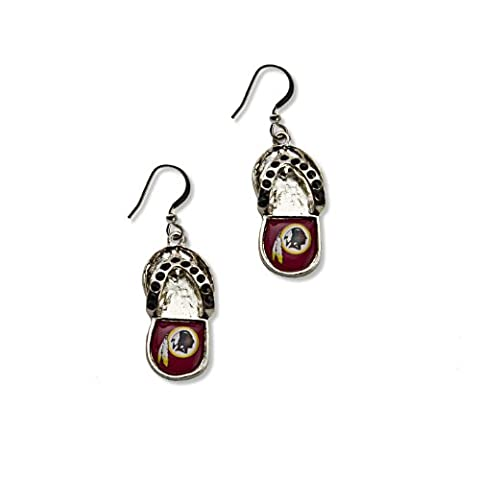 NFL Washington Redskins Crystal Flip Flop Earrings