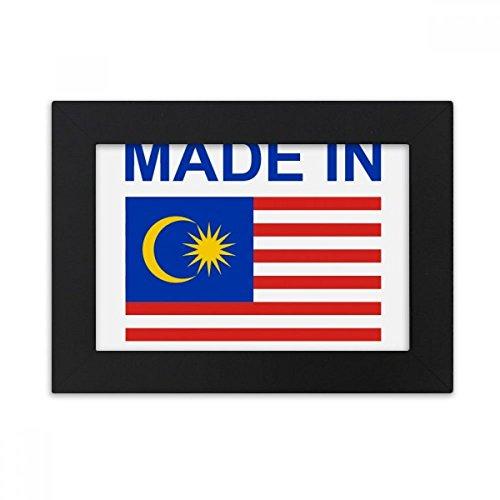 DIYthinker Hergestellt im Malaysia Land Liebe Desktop-Foto-Rahmen-Schwarz Bild-Kunst-Malerei Passt 10.2 x 15.2cm (4 x 6 Zoll) Bild Mehrfarbig