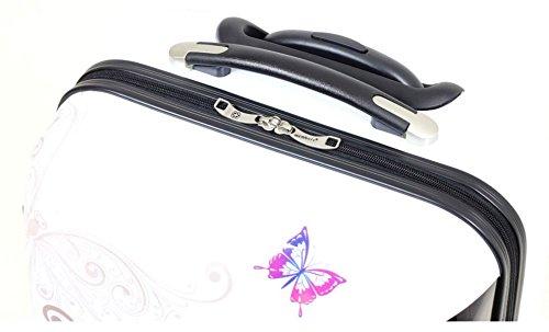 41ezYlWLziL - Valise rigide en carbone/polycarbonate case valise trolley papillon blanc taille xL