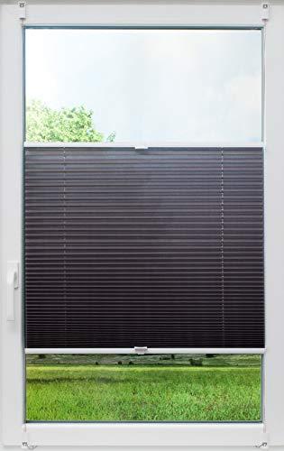 Sunlines Store plissé Crush, lumière du Jour 110 x 140 cm, PES, Gris, 110 x 140 cm