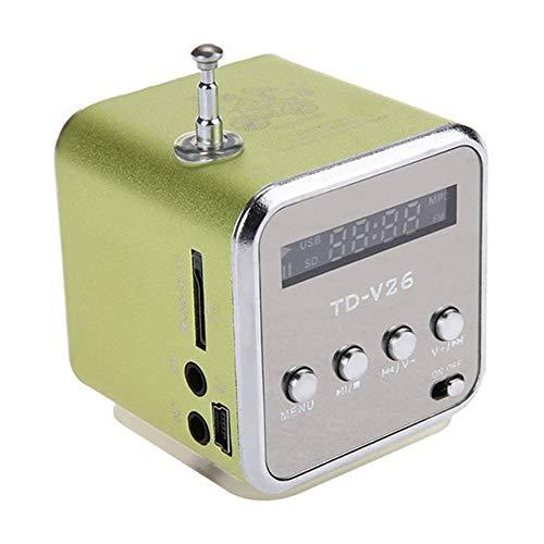 jEZmiSy, Musik Lautsprecher, Zuhause Accessary, Klingen, Mobile Audio, TD-V26 Mini TF-Karte FM-Radio AUX Stereo Spieler - Grün -
