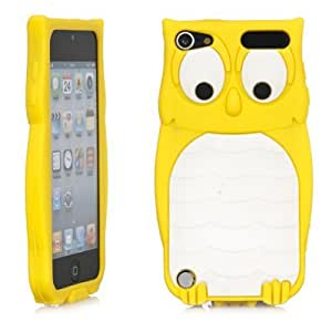 Owl Design 3D Cartoon Soft Silicone Case Cover Fit for ipod touch 5 Yellow