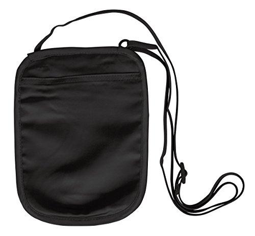 Eagle Creek Brustbeutel Silk Undercover Neck Wallet Geldtasche für Sport und Reisen aus Seide, rose Black