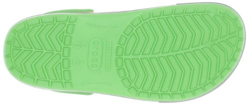 Crocs Crocband II.5 Unisex - Erwachsene Clogs Grün (Lime/Light Grey 31L)