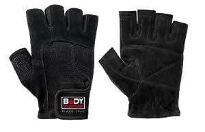 Body Sculpture Leather Weight Training Gloves - Medium