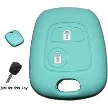 muchkey silicona llave del coche cubierta funda piel chaqueta ajuste para Citroen C1, C2, C3, C3Pluriel C4C5C8Saxo Xsara Berlingo Picasso para Peugeot 10720730740710620630640620540510072botón remoto inteligente Carcasa 1pc Nueva