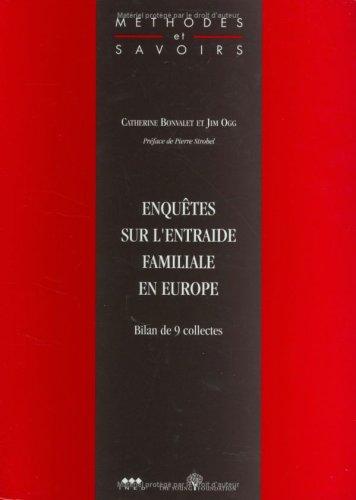 Enquêtes sur l'entraide familiale en Europe : Bilan de 9 collectes